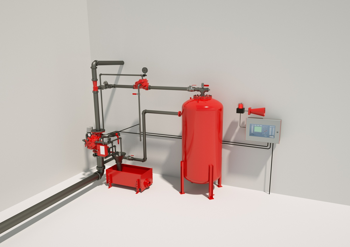 The typical structure of foam extinguishing systems