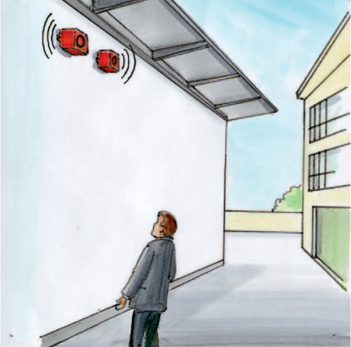 Drawing electrical alarm
