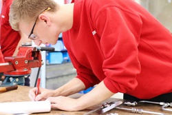 Photo of Working student