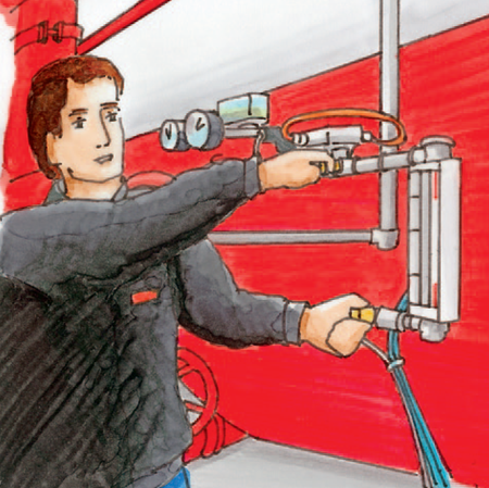 Niedriger Füllstand des Druckluftwasserbehälters als Problem
