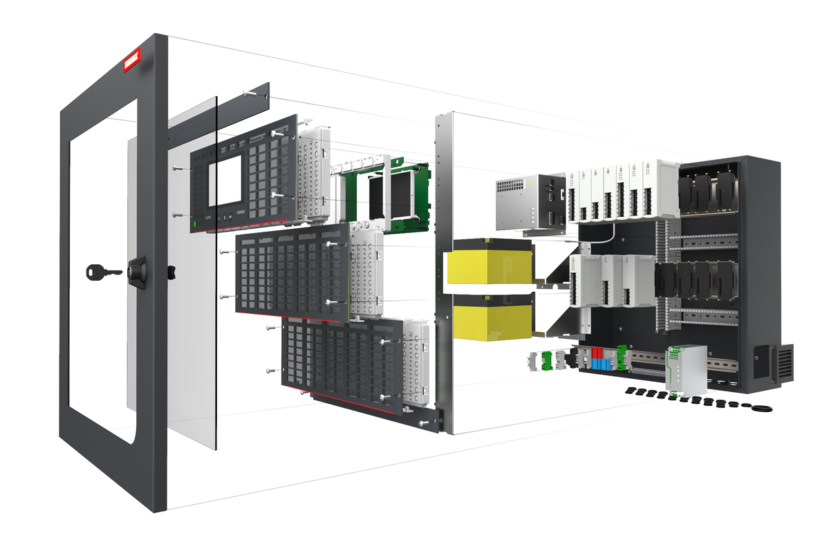Modular construction of the fire alarm system