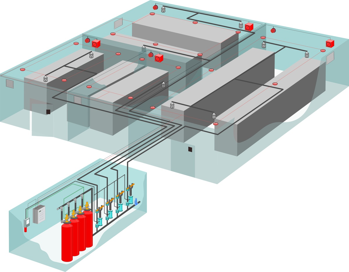 Aufbau Halocarbon-Löschanlagen