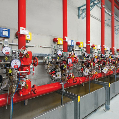 Sprinklersystem in der Industrie