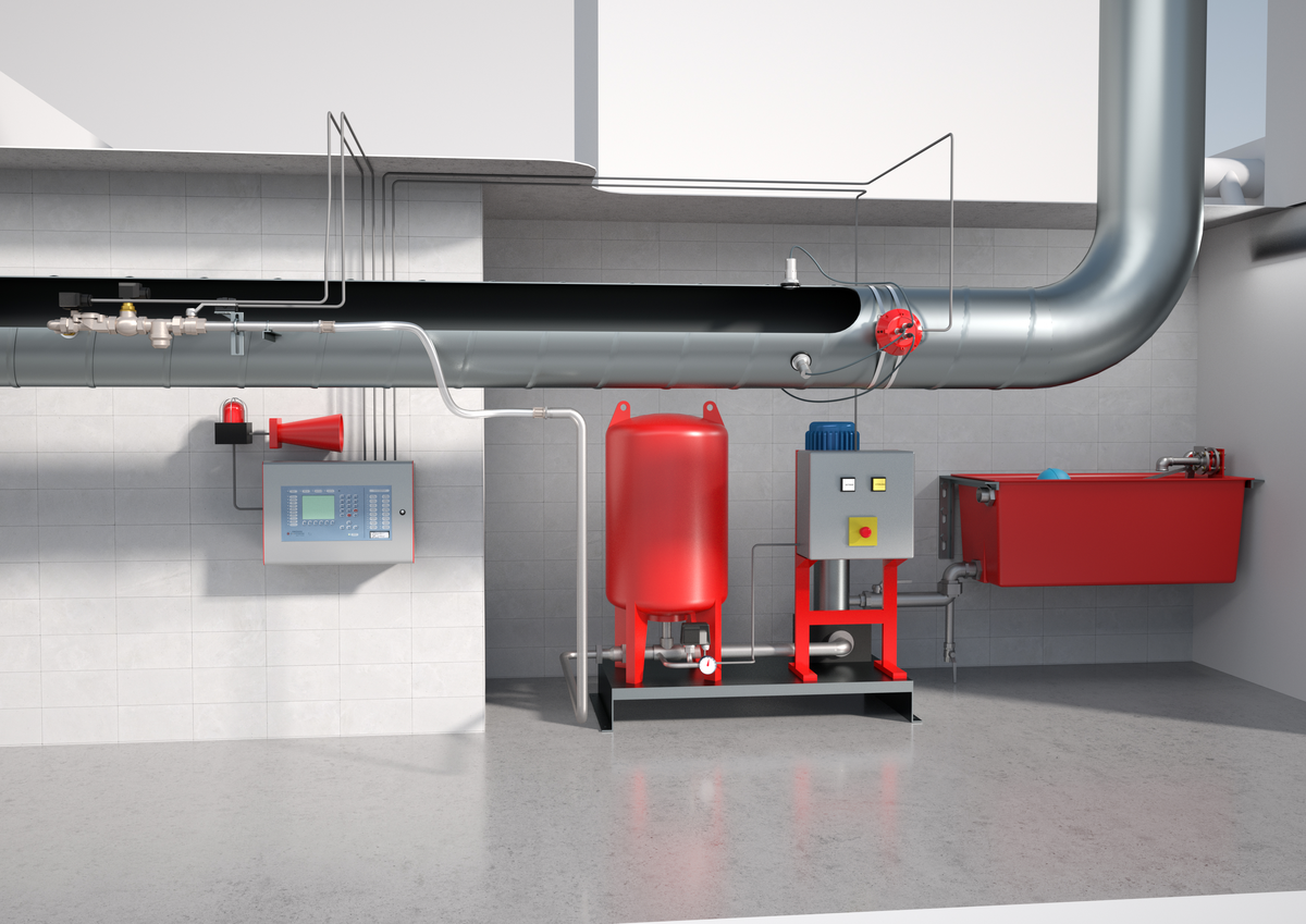 Construction of a spark extinguishing system