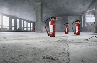 Image of the fire extinguishers from Minimax Mobile Services