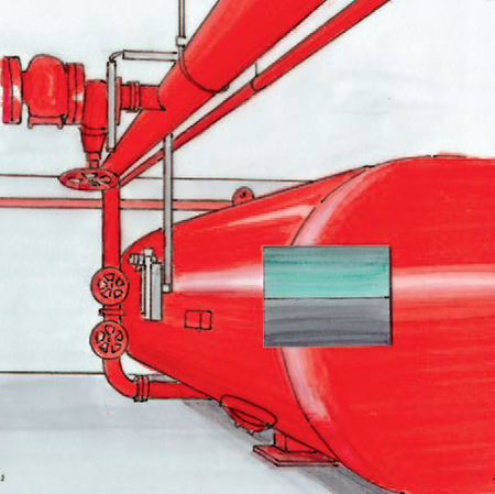 Solutions for a sprinkler pipe network