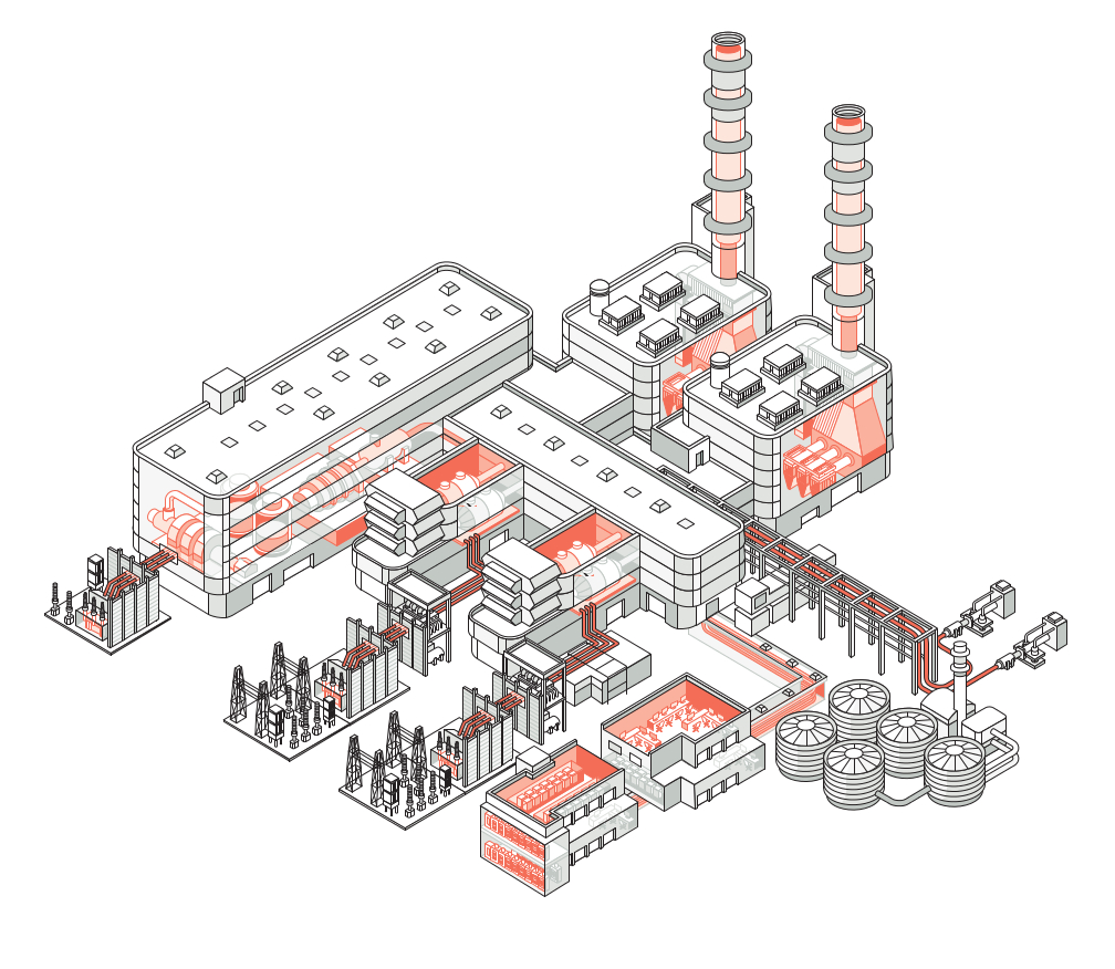 Protected areas of a combined cycle power plants