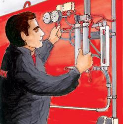 Leistungsumfang bei der Automatisierung der Wasser- und Druckluftnachspeisung