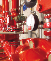 Control unit of a spray water extinguishing system