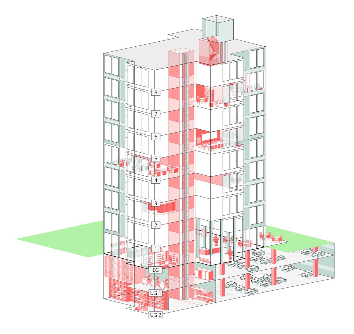 Schutzbereiche für Büro- und Verwaltungsgebäude
